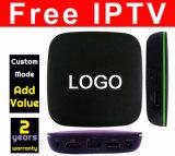 L'IPTV gratuite fait sur mesure Quad Core 4K TV Box T1-1+8