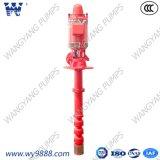 Pompa antincendio verticale sporta asta cilindrica lunga a più stadi della turbina del fornitore