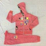 スクエア6664子供の衣服のレースとの冬の女の子の子供のスポーツのスーツの摩耗