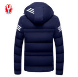 Man's 3 Colors Leisure Midweight Winter Coat com jaquetas com capuz