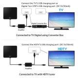 Antena de TV digital USB de 50 millas de la señal de rango amplificadas HDTV 1080p