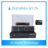 Receptor de TV via satélite Zgemma H5.2s com Suporte DVB-S2 Dual Core Suporte Hevc / H. 265