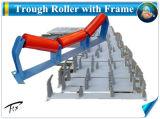 O suporte do rolete Conveyro correia; através da Estrutura Intermediária