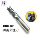 Regelt Stevig Carbide 4 van het wolfram Fluiten de Molen HRC45 van het Eind met Deklaag Altin