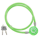 Bend to Surface for Colorful Printing 2 Wheel Security Cable LOCK