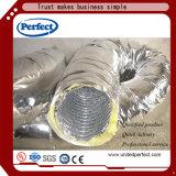 HVAC를 위한 유리솜을%s 가진 벌거벗은 유연한 덕트 격리된 유연한 관