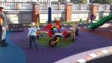 Веселого перейти за круглым столом на детскую площадку для установки вне помещений