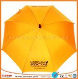 まっすぐなシャフトの一義的なゴルフ傘の広告
