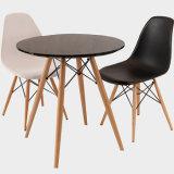Jeu de table blanc moderne Table ronde avec des chaises propre force la plus haute capacité de Président de la hauteur de 330 lbs plus sûr