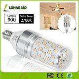 2017의 가장 새로운 LED 가지가 달린 촛대 전구 85W 동등한 LED 전구 (9Watt) E12는 백색 2700K를 데운다