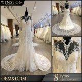カスタム普及した最も新しく熱い販売法の高品質のウェディングドレス