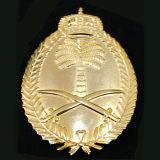 Oro che antico in lega di zinco del distintivo del collare polizia militare del metallo dell'esercito americano Badge (CB40302)