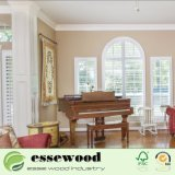 Windowsのための純粋で白い木のBasswoodのプランテーションシャッター