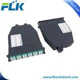 """4HD 카세트를 가진 MPO/MTP 광섬유 통신망 해결책 1u 19 """" 선반 마운트 패치 패널 울안 MPO/MTP-LC"""