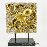販売のための2017終わりの海の芸術の金のタコの置物の彫像