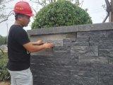 Mattonelle fiammeggiate e spazzolate del nuovo basalto nero di G684 Fuding per i lastricatori del pavimento della parete