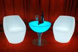 PE Matériau Matière plastique Table ronde lumineux à LED