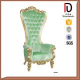 Vorzüglich geschnitzter festes Holz-Medium-Rückseiten-Thron-Stuhl für Hochzeit (BR-LC038)