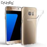 para a caixa da galáxia S7 de Samsung, tampa traseira magro de cristal macia de caso de enxerto do espaço livre TPU anti para a galáxia S7 de Samsung