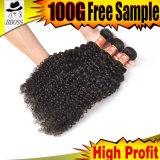 Части волос ранга 9A бразильские курчавого Weave
