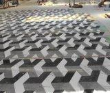 Mattonelle all'ingrosso del reticolo 3D del marmo di disegno del pavimento della Cina in in bianco e nero
