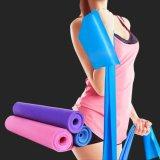 faixa de borracha do exercício de resistência do estiramento de Pilates da ioga elástica de 1.5m