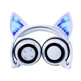 Hoofdtelefoon van het LEIDENE de Lichte Stereo Draadloze Oor van de Kat Bluetooth met Mic