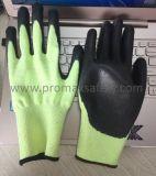 Hallo-Kräfte Handschuhe schnitt schwarze PU-Palme Coate 3