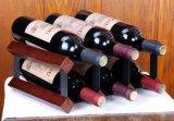 Estante de madera del almacenaje del vino de la botella de Minghou 6 con los pedazos negros del metal
