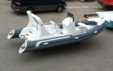 Deportes de velocidad de la nervadura barco pesquero de fibra de vidrio bote inflable rígido