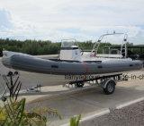 Orque gonflable de bateaux de côte de la Chine de bateau de Hypalon de côte de Liya 6.6m