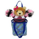Urso feito sob encomenda de China dos brinquedos por atacado do luxuoso do Cheerleading