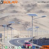 매장되는 Isolar 70W 9m 건전지 태양 LED 가로등 점화