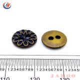 Travando Anqitue personalizado de moda Color dois furos com botão de costura de liga de zinco metálico