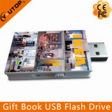 Le livre fait sur commande de logo forme le lecteur flash USB de cadeaux (YT-1142)