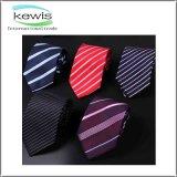 corbata impresa del modelo rayado del 145*8cm con insignia de encargo