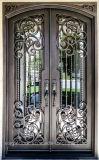 Hersteller-China-direkter Preis-bearbeitetes Eisen-Haustür-Außeneintrag-Metalltüren (EI-030)