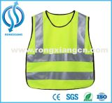 위생 노동자 착용을%s 포켓을%s 가진 도매 주황색 사려깊은 안전 조끼