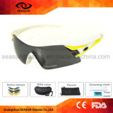 Amarelo Mens Mulheres Sport óculos polarizados lentes amovíveis executando o andar de óculos