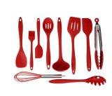 台所道具は鍋、鍋Cooking&Bakingのための道具ホールダーが付いている部分のシリコーンの炊事用具のセット台所工具セットをセットした10