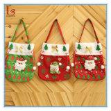 Le sac à main en gros du père noël de Noël badine des sacs de cadeau de sucrerie