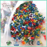 La main Caft Décisions forme de bouteille en plastique coloré Sweet Jumbo Carte tête de broche de poussée