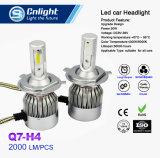 H4 lampada capa automatica delle parti LED degli accessori dell'indicatore luminoso di nebbia della lampada della testa della lampadina dei fari dell'automobile del fascio del faro 72W 8000lm ciao Lo della PANNOCCHIA LED 12V