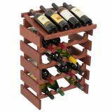 15 Rek van de Vertoning van de Wijn van het Rek van de Wijn van de fles het Houten Stapelbare