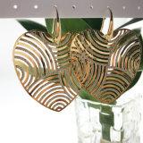 제조자 공장 가격 번쩍이는 빛나는 반짝반짝 빛나는 금 큰 심혼 귀걸이