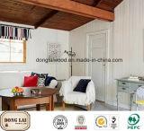 Panneau mural de plancher de bois de pin et de radiata décoratif blanc Prime