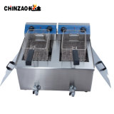 sartén profunda eléctrica industrial de los tanques dobles 36L para los pollos