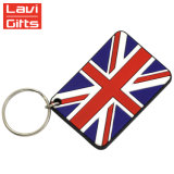 Preiswerter Großhandelszoll BRITISCHE weiche Belüftung-Staatsflagge-Geschenk-Andenken Keychain Geschenke