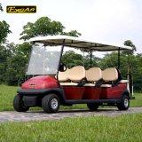 Красный цвет металлик 6 Passager гольф тележка для недвижимости
