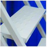Veiligheid die met Wielen 1800mm Ladder van het Platform van het Ijzer van de Hoogte Mobiele met Leuning Rolling